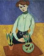 Девушка с тюльпанами - Матисс, Анри