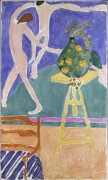 Настурции и картина Танец I - Матисс, Анри