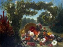 Корзина с цветами - Делакруа, Эжен