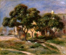 Пейзаж с мушмулами - Ренуар, Пьер Огюст