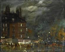 Ночной Париж - Коровин, Константин Алексеевич