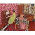 Женщина за пианино и игроки в шашки - Матисс, Анри