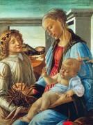 Мадонна с Младенцем и ангелом - Боттичелли, Сандро