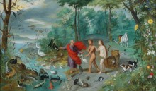 Адам и Ева в раю - Брейгель, Ян (младший)