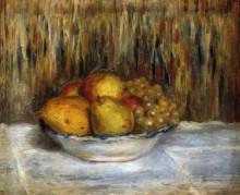 Натюрморт с грушами и виноградом - Ренуар, Пьер Огюст