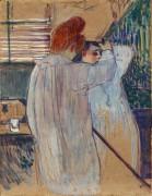Причесывающаяся женщина - Тулуз-Лотрек, Анри де
