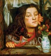 Девушка за окном - Россетти, Данте Габриэль