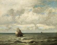 Морской пейзаж с парусником - Дюпре, Жюль