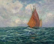 Рыболовное судно в море, 1907 - Мофра, Максим