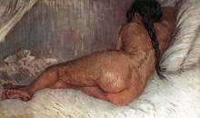 Обнаженная женщина, лёжа. Вид со спины (Nude Woman Reclining, Seen from the Back), 1887 - Гог, Винсент ван