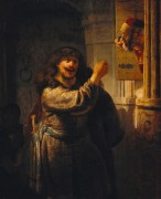 Самсон угрожает тестю - Рембрандт, Харменс ван Рейн