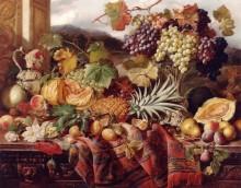 Натюрморт с фруктами и коврами - Дюффилд, Уильям