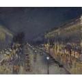 Бульвар Монмартр ночью - Писсарро, Камиль