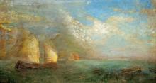 Лодки в море - Редон, Одилон