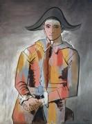 Арлекин со сложенными руками - Пикассо, Пабло