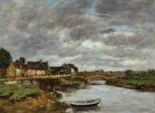 Старый мост на реке Тук, Трувиль - Буден, Эжен
