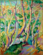 Женщина в лесу - Манген, Анри