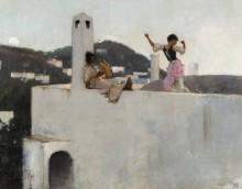 Каприотки на крыше дома - Сарджент, Джон Сингер