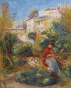 Терраса в Кань-Сюр-Мер, 1908 - Ренуар, Пьер Огюст