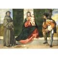 Мадонна с Младенцем, святого Антония Падуанского и святого Роха - Тициан Вечеллио