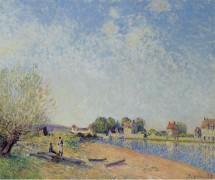 Канал Луана в Санкт-Maммс, 1885 - Сислей, Альфред