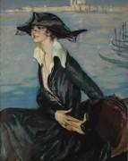 Дама в черном в Венеции, 1919 -  Домерг,  Жан-Габриэль