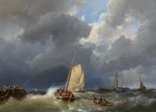 Рыбацкие лодки в шторм - Куккук, Херманус