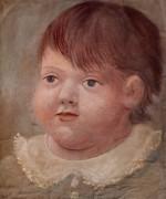 Портрет Павла, ребенка с белым воротничком, 1922 - Пикассо, Пабло