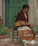 Женщина в цветочной шали - Лебаск, Анри