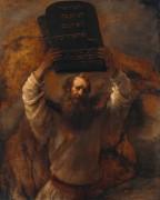 Моисей с десятью скрижалями завета - Рембрандт, Харменс ван Рейн