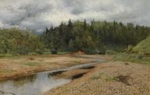 Пейзаж около Звенигорода - Левитан, Исаак Ильич