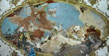 Аполлон сопровождает Беатрис Бургундскую в качестве невесты императору Фридриху Барбароссе - Тьеполо, Джованни Баттиста