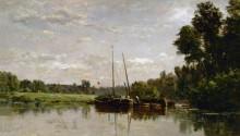 Лодки на Уазе - Добиньи, Шарль-Франсуа