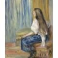Девушка с длинными волосами - Ренуар, Пьер Огюст