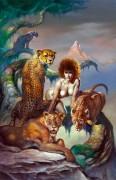 Иллюстрация из книги Хозяйка кошек - Вальехо, Борис (20 век)