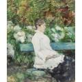 Графиня Адель де Тулуз-Лотрек в саду в Мальроме - Тулуз-Лотрек, Анри де