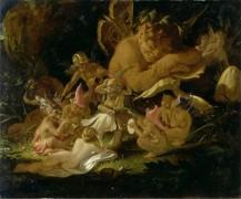 Пак (плутишка Робин) и феи (Сон в летнюю ночь) - Патон, Джозеф Ноэл