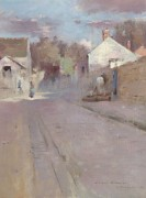 Улица в Барбизоне, закат, 1887 - Робинсон, Теодор
