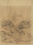 Зарисовки руки (Studies of a Hand), 1890 - Гог, Винсент ван