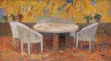 Под большим каштаном в Маркиьроле, осень, 1915 - Мартен, Анри Жан Гийом