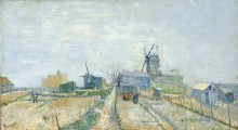Монмартр: ветряные мельницы и огороды - Гог, Винсент ван