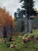 В лесу осенью. 1894 - Левитан, Исаак Ильич