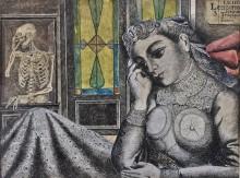 Скелет и женщина - Дельво, Поль