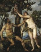 Адам и Ева - Тициан Вечеллио