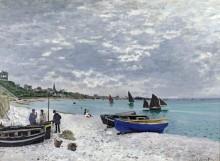Пляж в Сент-Адресс - Моне, Клод