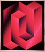 Композиция с красными квадратами - Вазарели, Виктор