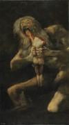 Сатурн, пожирающий своего сына. (черные картины) - Гойя, Франсиско Хосе де