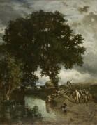 Пейзаж с отарой овец - Труайон, Констан
