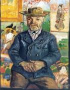 Портрет Пьера Танги (Portrait of Pere Tanguy), 1887-88 - Гог, Винсент ван