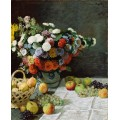Цветы и фрукты,  1869 - Моне, Клод